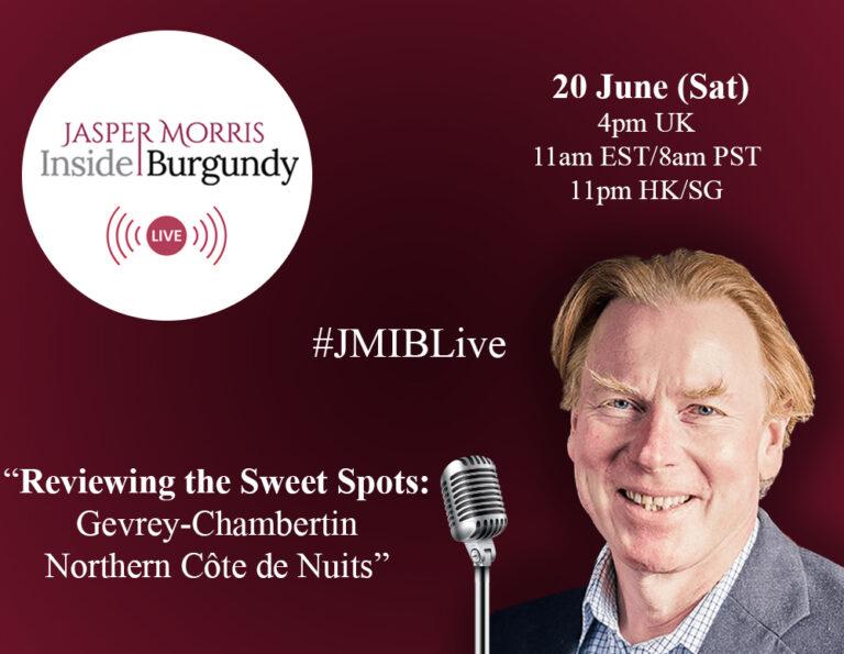 JMIB Live: Reviewing the Sweet Spots: Gevrey-Chambertin & the Northern Côte de Nuits