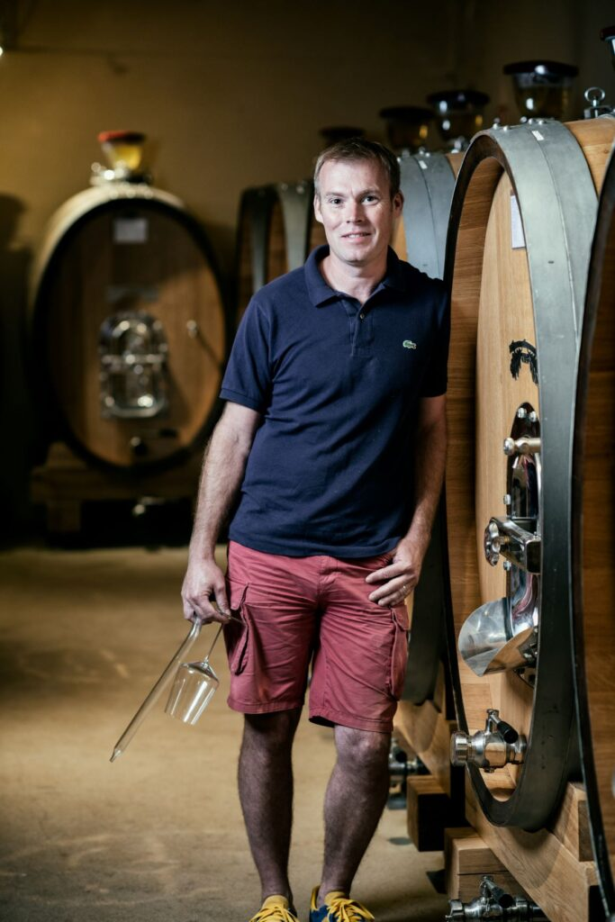 LEROUX Benjamin in the cellar vertical