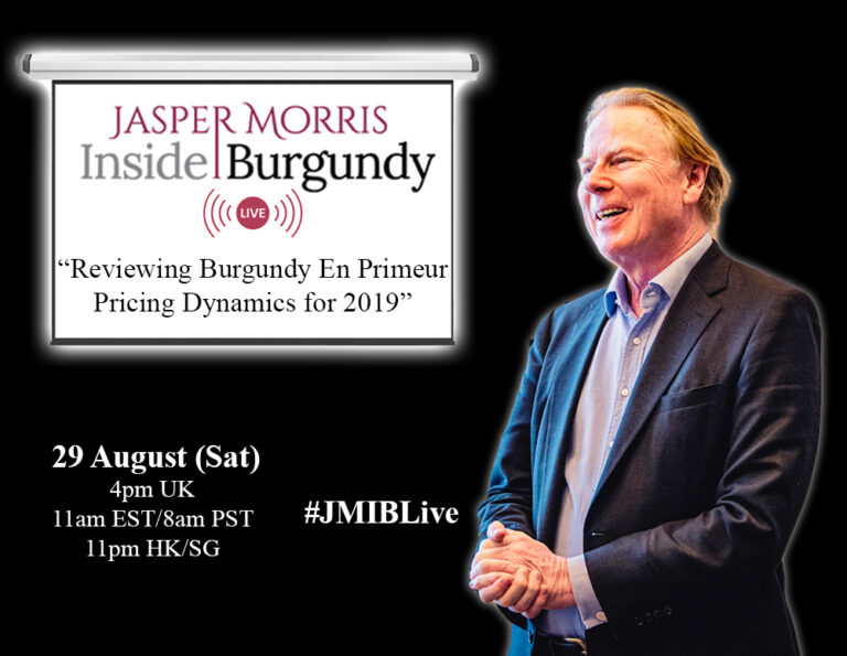 JMIB Live: Reviewing Burgundy En Primeur Pricing Dynamics for 2019