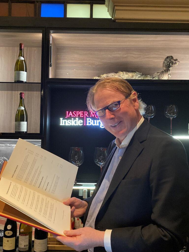 Inside Burgundy wine bar