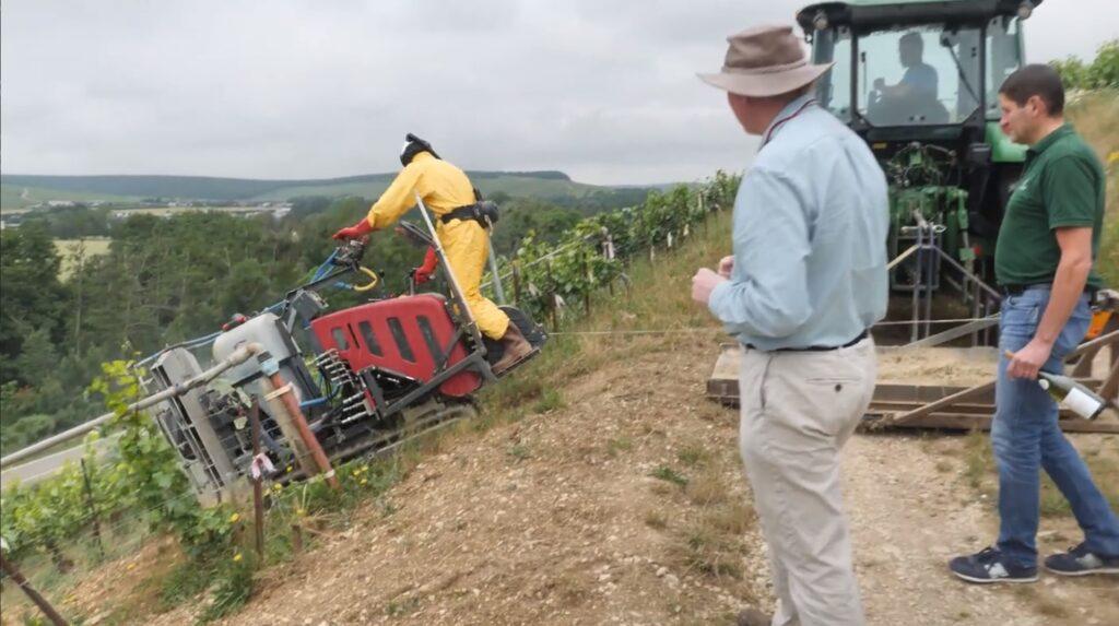 Jasper on Terroir Chablis Grands Cru Tractor