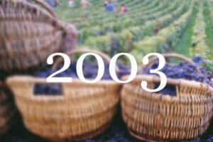 2003 Vintage Overview